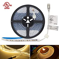 Hitlights Waterproof Led Strip Lights 16 4 Feet Ip 67 Warm White 600 Leds 3000k 164 Lumens Per Foot 12v Dc Led Tape Light Ul Listed