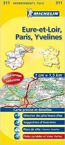 Amazonfr Carte Dpartements Eure Et Loir Paris Yvelines