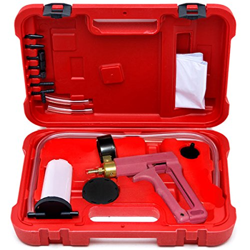2 in 1 Brake Bleeder /& Vacuum Pump Gauge Test Tuner Kit Tools DIY Hand Tools New Auto Hand Held Brake Bleeder /& Vacuum Pump Gauge Test Tester Tuner Tool Kit Set