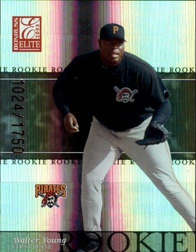 2003 Donruss Elite Baseball Card #194 Walter Young - Card Elite 2003 Baseball Donruss