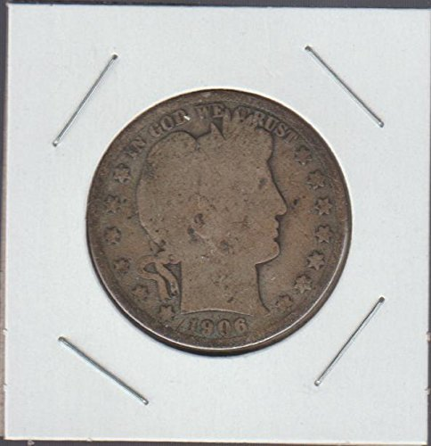 1906 D Barber Half Dollar About Good