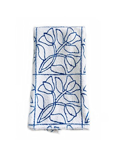 MICROFIBER HAND TOWEL: STITCHED UP TULIPS