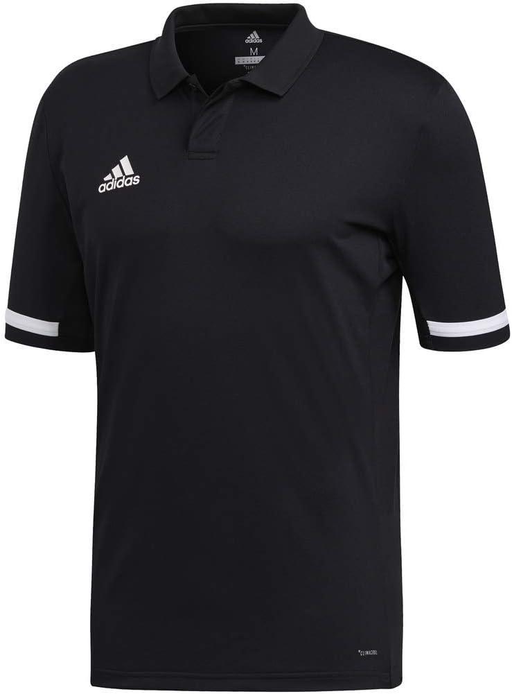 Adidas Team 19 - Polo para hombre - FTA17, Medium, Negro/Blanco ...