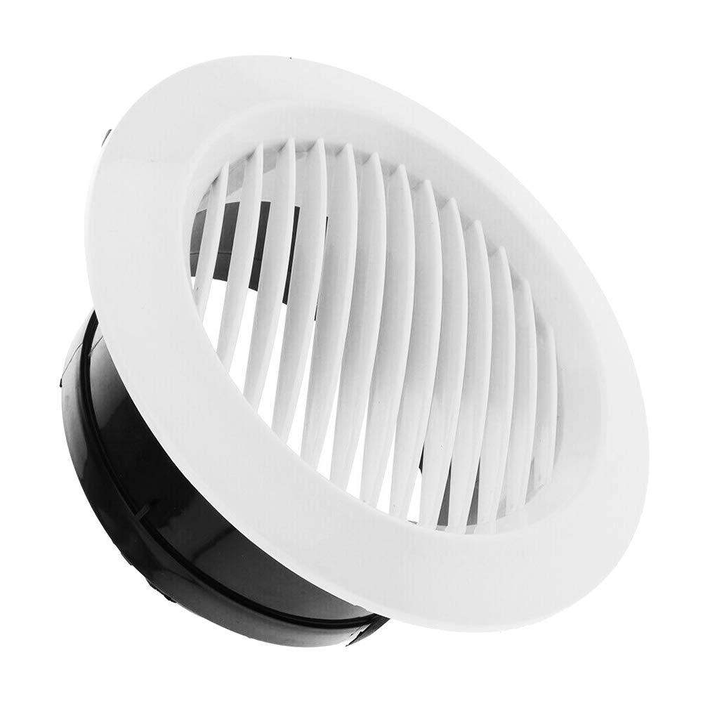 Rejilla de ventilaci/ón Redonda para Interior de Coche 75 mm 1 Daxerg