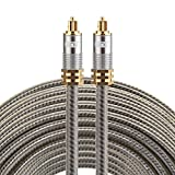Optical Cables, EMK YL-A 20m OD8.0mm Gold Plated Metal Head Toslink Male to Male Digital Optical Audio Cable