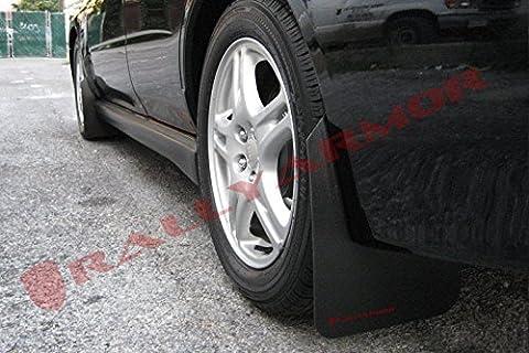Rally Armor 02-07 Subaru WRX/STI/RS/2.5i (wagons req mod) Basic Black Mud Flap w/ Red Logo - Impreza Sport Wagon