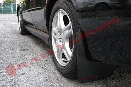 Rally Armor MF1-BAS-RD Basic Black, Red Mud Flap with Logo (02-07 Subaru WRX/STI/RS/2.5i (Wagons req ()