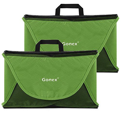 Gonex Packing Folder,15' Travel Garment Bag for Shirt 2pcs Green