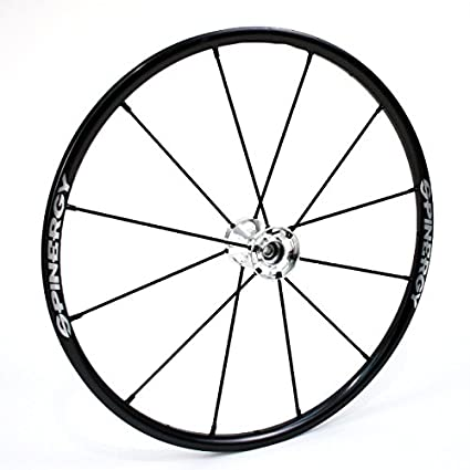 """25 """"Spinergy LX Silla de ruedas Rueda con radios de color negro"""