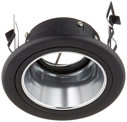 CSL Lighting  9775BK 3.6 Series 1-Light Adjustable Recessed Downlight Trim, Black Finish with Clear Reflector (Diecast Trim Reflector Adjustable Voltage)