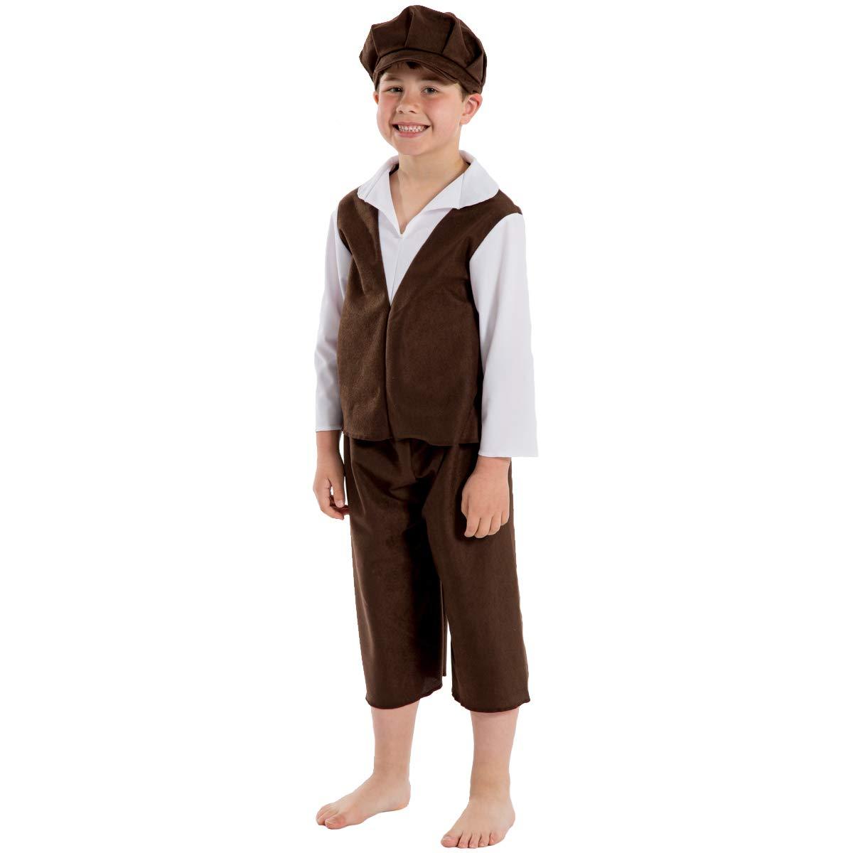 Taglia unica 10-12 anni. Charlie Crow Ernest il monello costume per i bambini