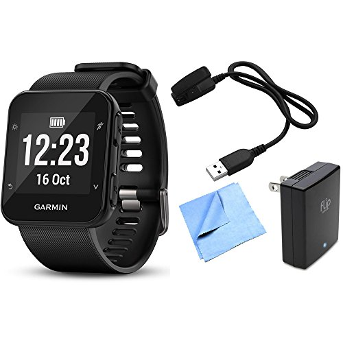 Garmin Forerunner 35 GPS Running Watch & Activity Tracker with Accessories Bundle (Black)