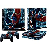 Mod Freakz Console and Controller Vinyl Skin Set - Red Blue Web Man for Playstation 4