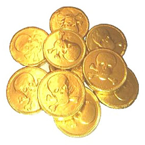 Gold Chocolate Pirate Coins x50