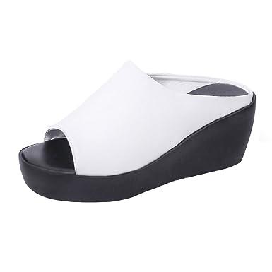 0fcb05e0d5ba0 Amazon.com: Hunzed Women【Platform Sandals】 Summer Wedges Shoes ...