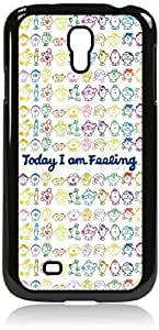 Today I am Feeling...-Mood Chart - Hard Black Plastic Snap - On Case-Galaxy s4 i9500 - Great Quality!