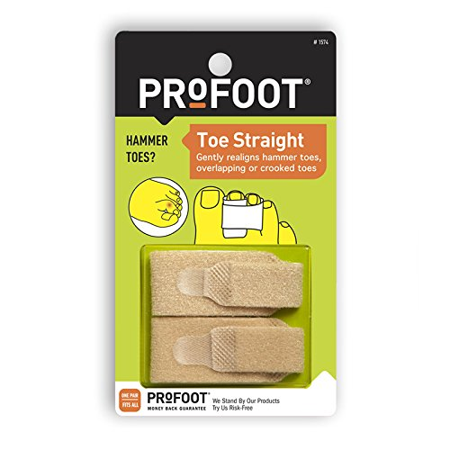 PROFOOT Toe Straight Hammertoe Wrap, (1 Pair),  Wrap to Help Straighten & Support Curled, Overlapping or Crooked (Team Hammer)