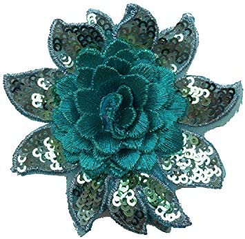 Iron-On Applique Embroidered Sequins Sewing Fabric Craft Supply Embellishment