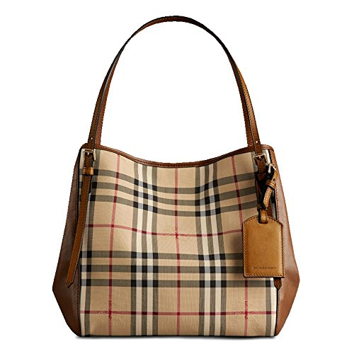 Burberry Women's Small Canter in Horseferry Check and Leather Beige - Burberry 2014 Bag