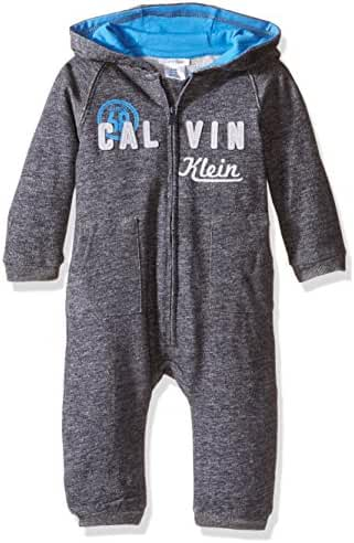 Calvin Klein Baby Boys' Hooded Coverall