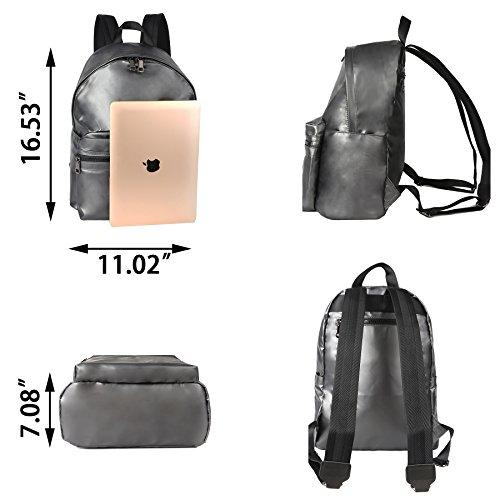 ZORFIN Fashion Nylon Backpack for Women&Men Rucksack Purse School Bags for Girls Waterproof Book Bag by ZORFIN (Image #3)