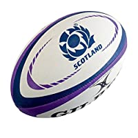 GILBERT Schottland Replica Midi Rugby Ball [blau/violett]