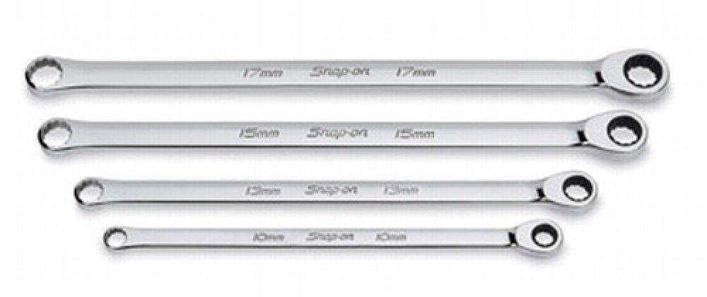 スナップオン ラチェッティングコンビネーションレンチ 4ピースセット フルフラット ボックス/ラチェッティングボックス 12ポイント 【並行輸入】 XDHRM604 B00G217GB2