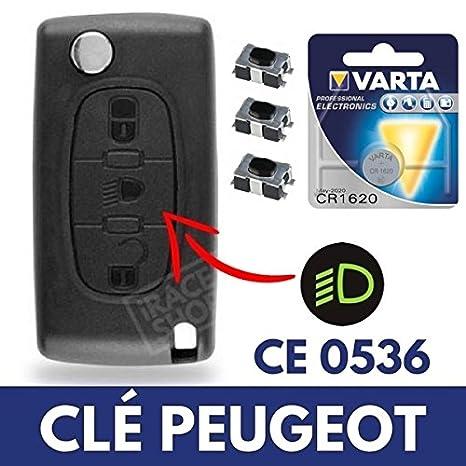 Caja mando a distancia - Carcasa de llave Peugeot 207 307 ...