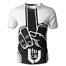 Men's T-shirt 3D All Over Middle Finger Fuck Graphic Summer Casual Short Sleeves
