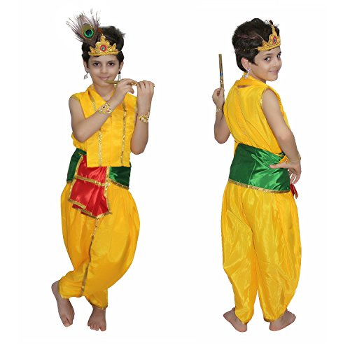 Bal Krishna fancy dress for kids,Krishna leela/Janmashtami/Kanha/Mythological Character for Annual function]()