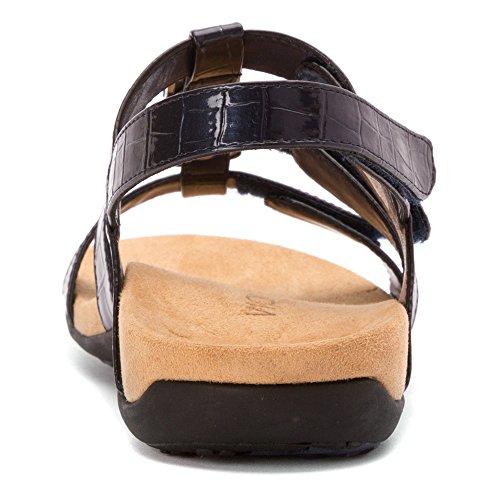 Vionic Amber - Damenschuhe Sandalette / Sling, Braun, absatzhöhe: leichter keil Marine