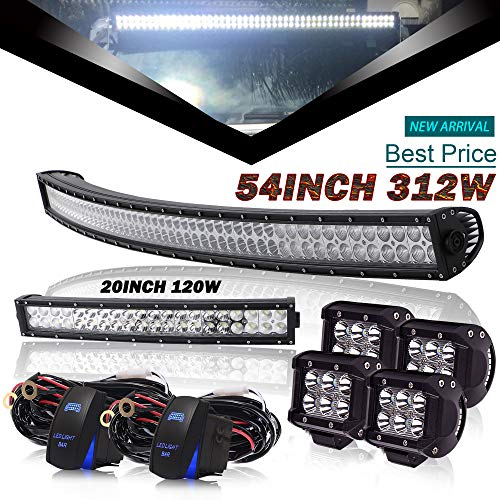 DOT 54Inch Curved Led Light Bar + 20