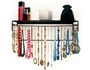 "Wire Jewelry and Accessories Rack (Black) (20""H x 8""W x 6""D)"