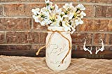 Rustic Hand-painted Mason Jar