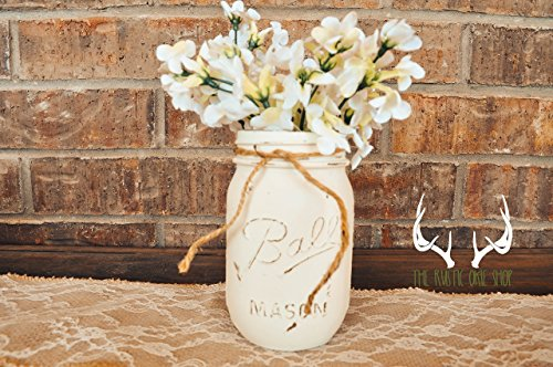 Rustic Hand-painted Mason Jar by The Rustic Okie Shop