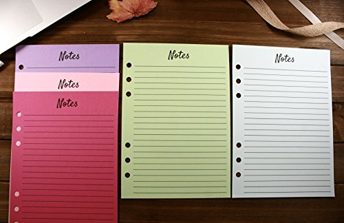 Refill Coloured - A5 Planner Colored Refill Pages Soda Pop, A5 Size Notes Refills, Filofax A5 Notes Inserts, Kate Spade Notes, Color Crush Notes, Carpe Diem Notes