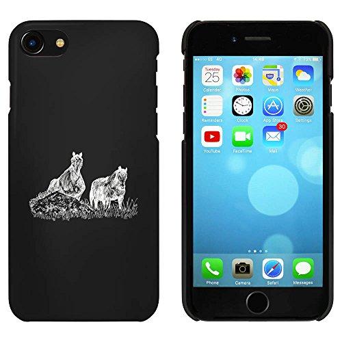 Noir 'Les chevaux' étui / housse pour iPhone 7 (MC00074139)