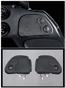 j&m HRRK-GRTM Corporation Unisex-Adult Rokker Xx Fairing Speaker Grills W/Mid-Twt 98-2013 Harley RoadGlide (Black, One Size)