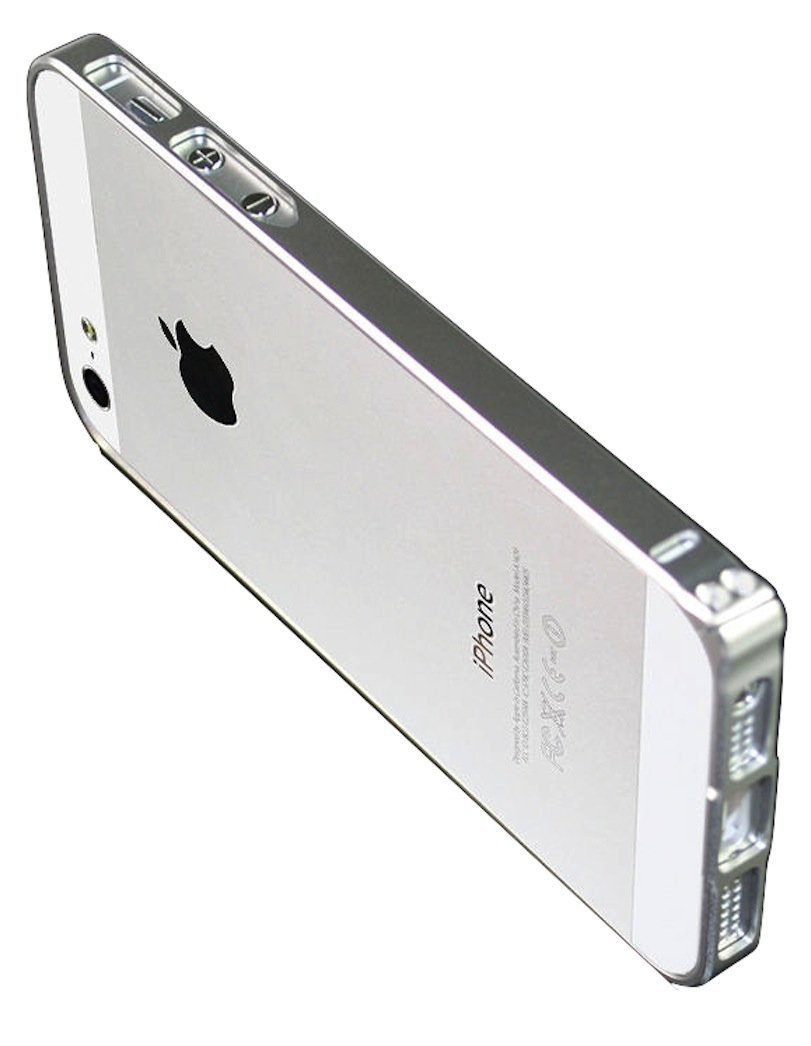 Amazon Luxury Ultra Thin Slim Aluminum Metal Bumper Frame Case For Apple IPhone 5 5S Silver Cell Phones Accessories