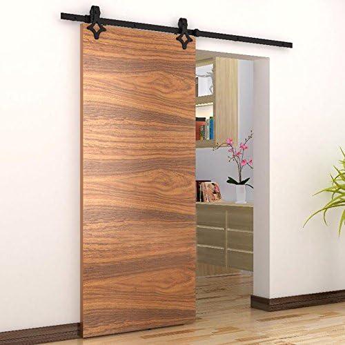 Herraje para Puerta de Granero Corredera de madera Puerta Deslizante Divisores Puertas Interiores (183cm, Modelo B ...