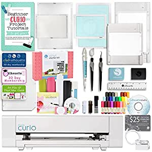Silhouette America Curio Crafting Machine with Large Base, Vinyl Kit, Tools, and More!