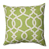 Pillow Perfect Lattice Damask Leaf Throw Pillow, 16.5-Inch