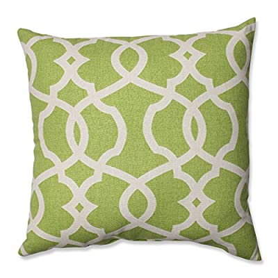 Pillow Perfect Lattice Damask Leaf Throw Pillow, 16.5-Inch - Includes one (1) decorative throw pillow; suitable for indoor use Plush Fill - 100-percent polyester fiber filling Edges of decorative pillow are knife edge - living-room-soft-furnishings, living-room, decorative-pillows - 51rbP2jS7gL. SS400  -