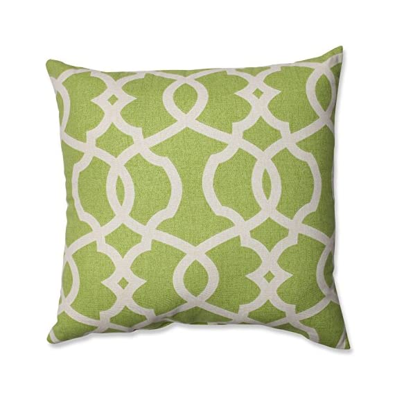 Pillow Perfect Lattice Damask Leaf Throw Pillow, 16.5-Inch - Includes one (1) decorative throw pillow; suitable for indoor use Plush Fill - 100-percent polyester fiber filling Edges of decorative pillow are knife edge - living-room-soft-furnishings, living-room, decorative-pillows - 51rbP2jS7gL. SS570  -