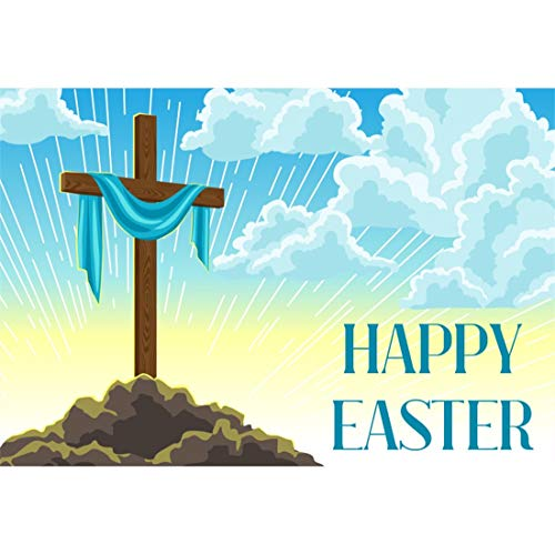Yeele-Easter-Backdrop 7x5ft Happy Easter Photography Background Cross Dawn Holy Light Peak White Cloud Photo Backdrops Pictures Studio Props Wallpaper -