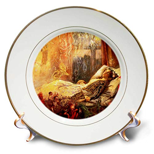 (3dRose VintageChest – Masterpieces - John Anster Fitzgerald -The Fledgling - 8 inch Porcelain Plate (cp_302638_1))