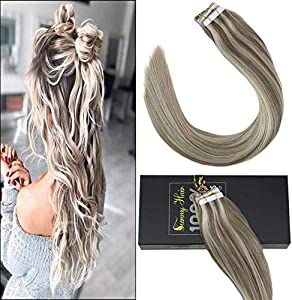 Win A Free Sunny Highlighted Blonde Tape in Hair Extensions 14Inch...