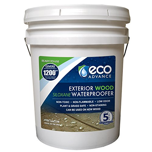 (Eco Advance EAWOD640PD 5 Gallon Exterior Wood Siloxane Waterproofer - Ready to Use)