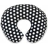 Boppy Pillow Slipcover, Plush Prints Black and White Dot