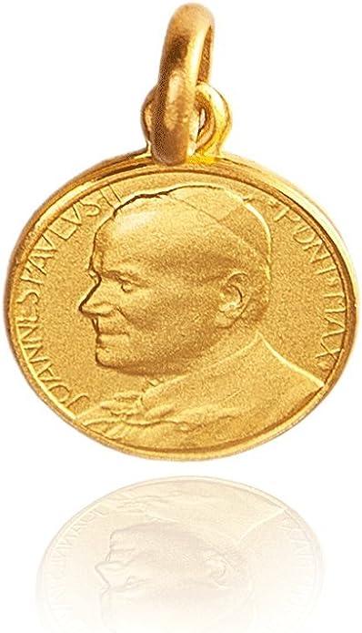 Medalla Juan Pablo II Oro amarillo 18k 18mm